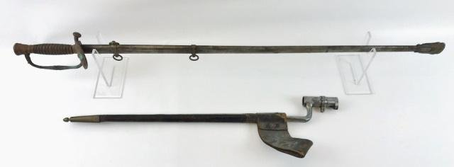 Civil War Era Sword and Bayonet, (2pc)