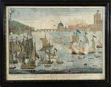 18th C. British Hand Colored Print, Thoulon 1707