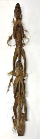 New Guinea Native Ancestor Figure Wood Carving