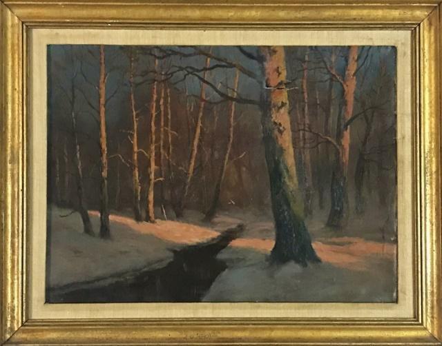 Antique Painting, Oil on Canvas, Ivan Sonowski