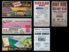 Vintage New York Ferry Advertising 6pc