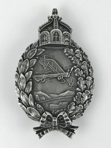 WW1 German Imperial Pilot Badge in Silver