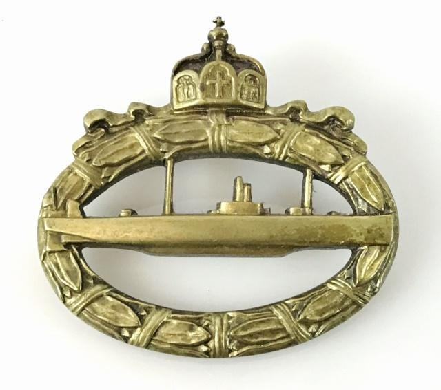 WW1 German Imperial U-Boat Badge, WALTER SCHOT