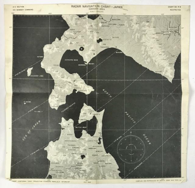 WW2 USAAF Radar Navigation Charts, Japan (5pc)