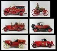Collection Jim Beam Fire Truck Decanters 6pc