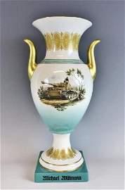 WW2 German SS Porcelain Award, Michael Wittmann