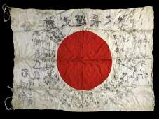 WW2 Imperial Japanese Flag with Ink Calligraphy