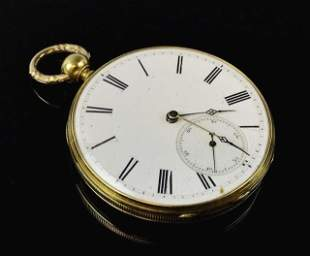 18K Gold Faneuil Hall Pocket Watch, M.J. Tobias