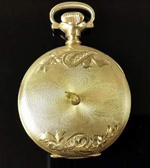 14K Gold Hunter Case Waltham Pocket Watch, 1903