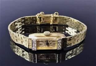14K Gold and Diamond Ladies Wristwatch, JUVENIA