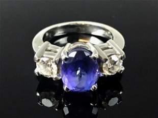 Ladies 14K Gold, Diamond and Tanzanite Ring