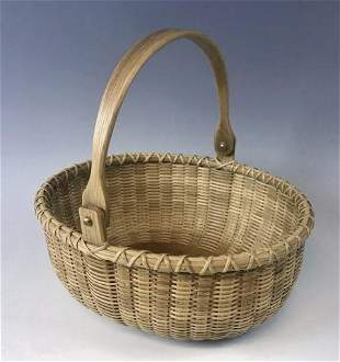Hand Woven Nantucket Basket, Arthur R. Martin