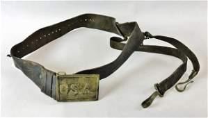 Civil War Confederate Sword Belt and C.S.A Buckle
