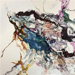 Painting, Acrylic, Ink on Canvas, Kaile Dutton