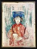 Painting, Mixed Media, Edna Hibel