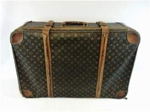 1970's Canvas, Leather Suitcase, Louis Vuitton