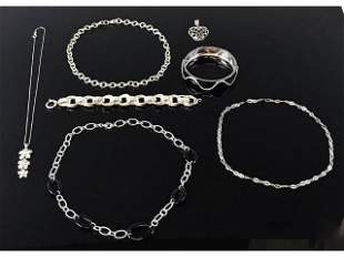 Collection, Sterling Silver Jewelry (7pc)
