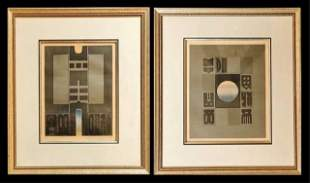 Early 20th C. Modernist Lithographic Prints, (2pc)