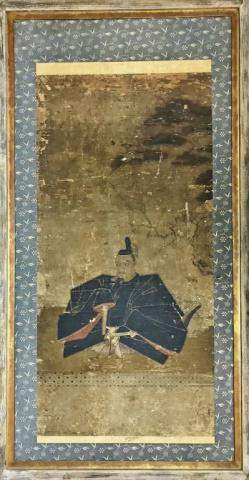 Japanese Edo Period Painting, Seated Samurai