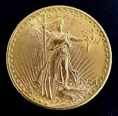 1924 U.S. $20 Saint Gaudens Gold Double Eagle, BU