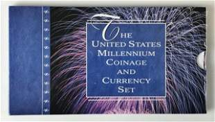 2000 US Mint Millennium Coinage and Currency Set