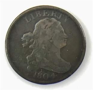 1804 P Draped Bust Half Cent, F