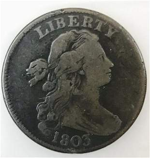 1803 P Draped Bust Large Cent, F