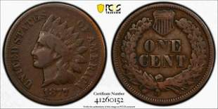 1877 P Indian Head Penny, PCGS VG10