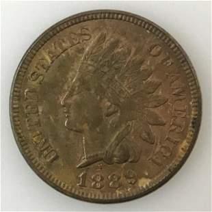 1889 P Indian Head Penny, BU