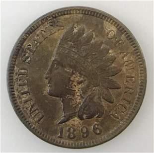 1896 P Indian Head Penny, BU