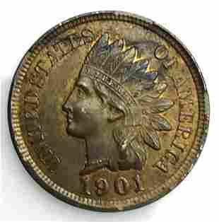 1901 P Indian Head Penny, BU