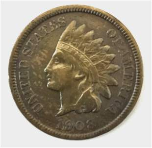 1908 S Indian Head Penny, VF