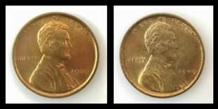 1909 VDB Lincoln Head Pennies, BU (2pc)