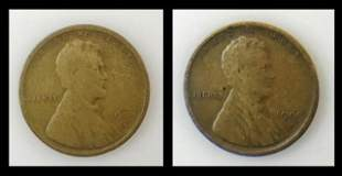 1909 S Lincoln Pennies, VG - F, (2pc)