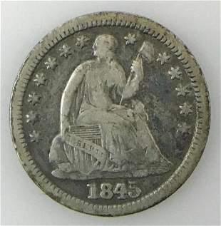 1845 P Seated Liberty Half Dime, VF
