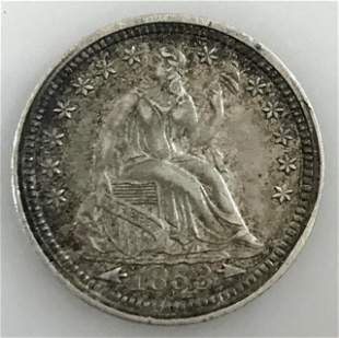 1853 P with Arrows Seated Liberty Half Dime, XF