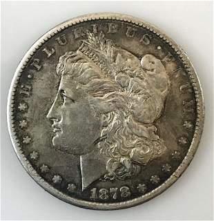 1878 CC Morgan Silver Dollar, XF