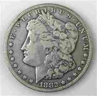 1882 CC Morgan Silver Dollar, VG- F