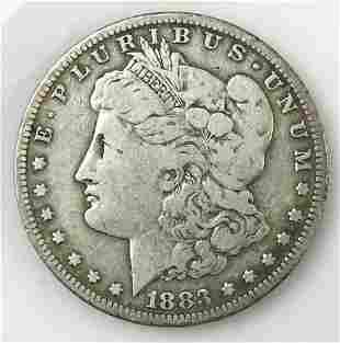 1883 CC Morgan Silver Dollar, VG