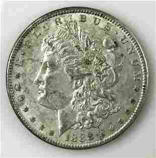 1888 S Morgan Silver Dollar, AU