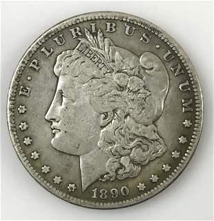 1890 CC Morgan Silver Dollar, F - VF