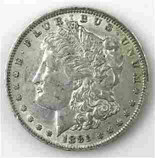 1891 O Morgan Silver Dollar, AU