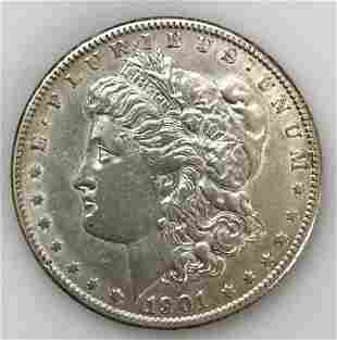 1901 O Morgan Silver Dollar, AU