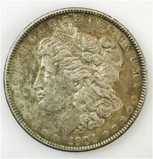1904 P Morgan Silver Dollar, AU