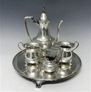 Antique Sterling Silver Teaset, (5pc)