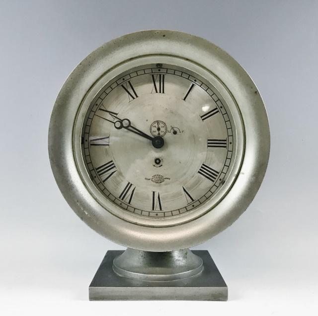 Antique Ship's Clock, American Steam Gauge & Valve