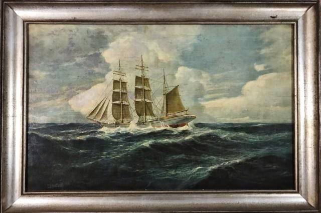 Oil on Board Painting, (P. J. Hartleff 1856-1940)