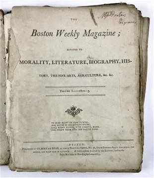Boston MA Weekly Magazine Vol. I 1802-1803
