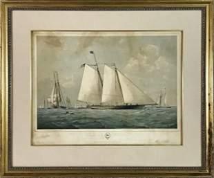 1851 Lithograph of Schooner Yacht America