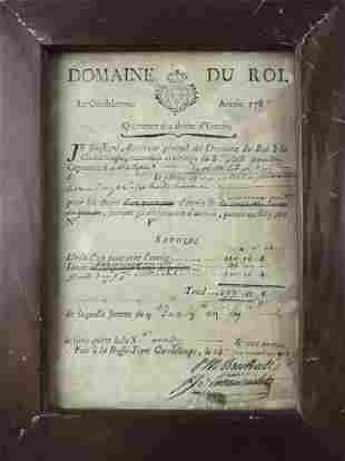 1787 French Right of Port Entry Pass, Guadeloupe